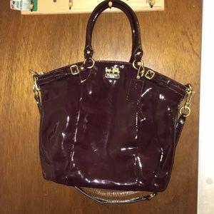 Coach Hobo Plum Patent Leather Bag